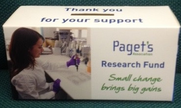 Paget donation box that says thank you